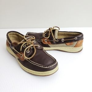 Sperry Leather Loafers Brown Tan Size 7M